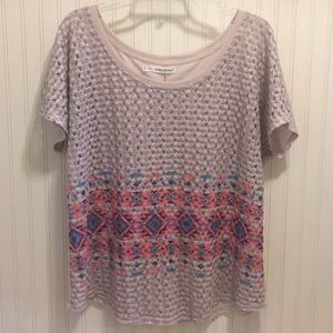 Maurices Aztec print knit blouse